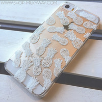 HENNA PINEAPPLE  - Clear TPU Case Cover