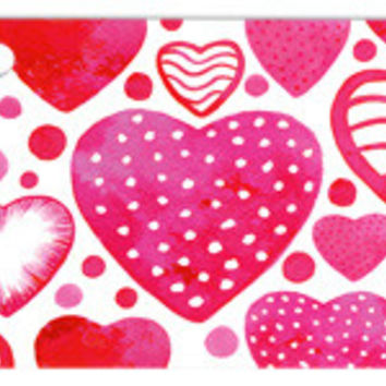 Watercolor Hearts Blank Note Card