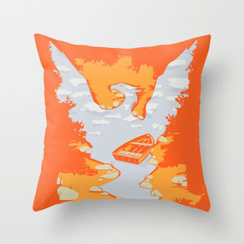 River Phoenix - Autumn Throw Pillow by Brandon Ortwein