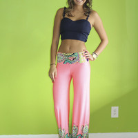 Groovy Town Pants: Neon Pink