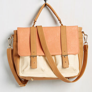Agree to Master's Degree Bag in Apricot | Mod Retro Vintage Bags | ModCloth.com