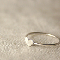 Stackable Small Heart Ring by jonesingforjewelry on Etsy