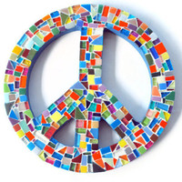 Peace Sign, Mosaic Wall Art