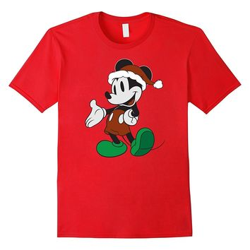 Disney Mickey Mouse Santa Claus Christmas T-Shirt