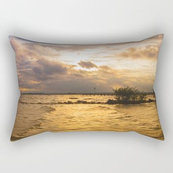 Weather over the lake Rectangular Pillow by Tanja Riedel