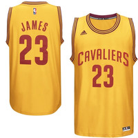 LeBron James Cleveland Cavaliers adidas Fashion Replica Jersey – Gold