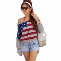 NI9NE Brand American Flag/Dreamy Top Item #6029 (US Size 8 - 12 (L - XL)