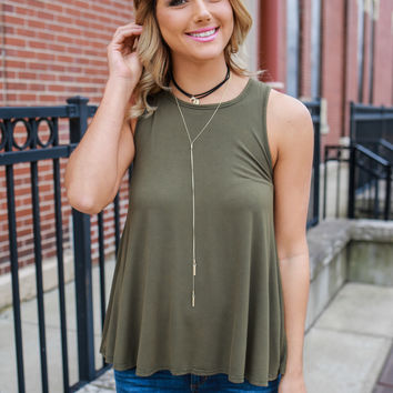 Non-Stop Top - Olive