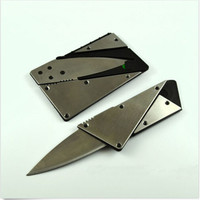 New 1PC credit card knife with steel handle folding safety knife outdoor camping survival pocket wallet tool S171-Q