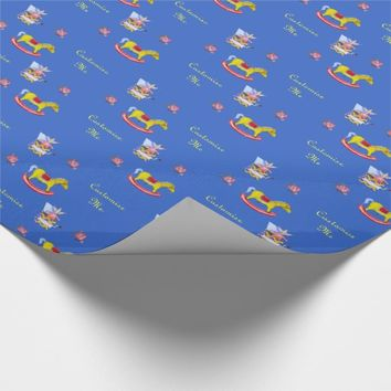Traditional Toys/Primary Colours (Baby Shower) Wrapping Paper