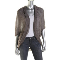 Valette Womens Juniors Knit Open Front Cardigan Sweater