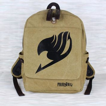 Japanese Anime One Piece / Fairy Tail Cosplay Backpacks Fashion School Bags Shoulder Bags Knapsack Military Package