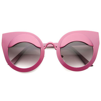 EYE LIDS POPPIN CAT EYE SUNGLASSES - HOT PINK