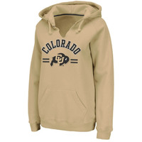 Colorado Buffaloes Ladies Valley Pullover Hoodie - Gold