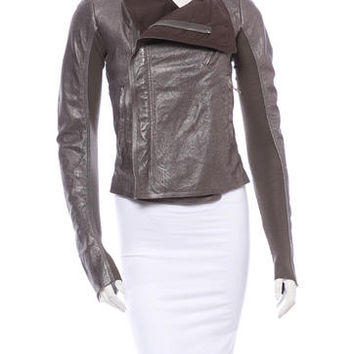 Rick Owens leather Moto Jacket