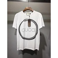 Gucci Original T-Shirt with Gucci Ouroboros-Print Snake/White 10