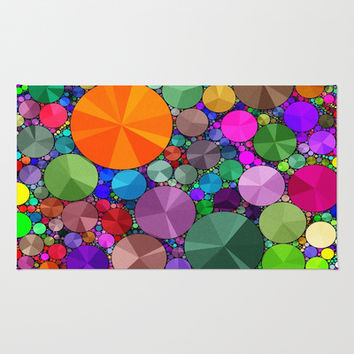 Rainbow Color  Bling  Pattern  Area & Throw Rug by OCDesigns