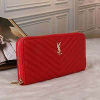Best Deal Online YSL Yves Saint laurent Womens Wallet Faux Leather RFID Blocking Purse Credit Card Clutch 1713