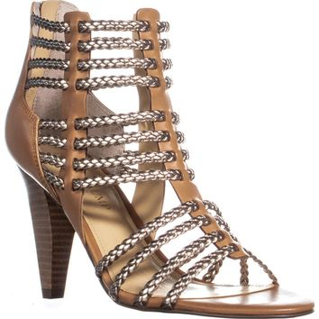 Ivanka Trump Rannon Strappy Cone Heel Sandals, Brown Multi, 7 US
