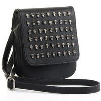 BN! Womens Handbag Tote Bag Korean Satchel Punk Skull Rivet Kit Shoulder Bag  ($19.99)