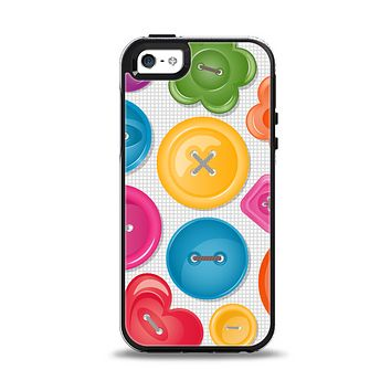 The Icon Shaped Color Buttons Apple iPhone 5-5s Otterbox Symmetry Case Skin Set