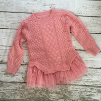 "The ""Audrey"" Sweater Tutu Dress in Pink"