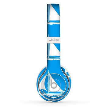 The Blue Vector Sailboats Skin Set for the Beats by Dre Solo 2 Wireless Headphones
