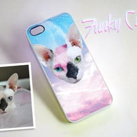Custom Pet Plastic Phone Case - Personalized Space Cat Art iPhone, Samsung Galaxy