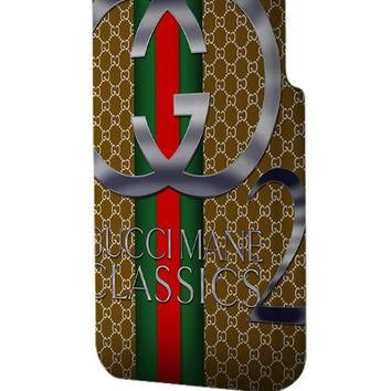 Best 3D Full Wrap Phone Case - Hard (PC) Cover with Gucci Classics Design