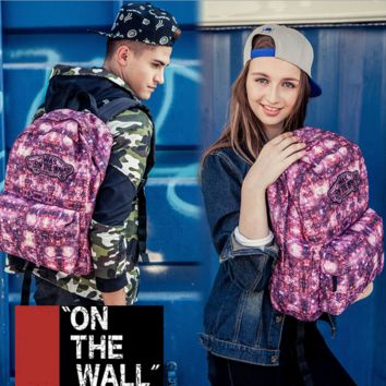 """Vans""Fashion Personality printing large capacity backpack bag leisure travel boom Star printing(8 style)"