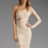 Donna Mizani Cut Out Dress in Nude/Nude from REVOLVEclothing.com