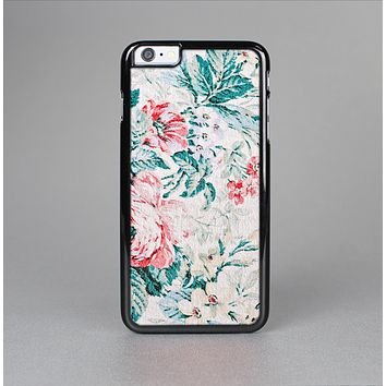 The Coral & Blue Grunge Watercolor Floral Skin-Sert Case for the Apple iPhone 6