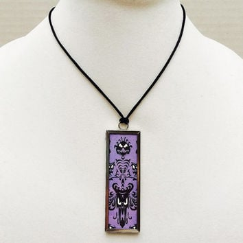 Haunted Mansion necklace, Disney necklace, Haunted Mansion wallpaper, Disney jewelry, Haunted Mansion jewelry, pendant, foolish mortals