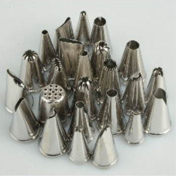 24PCS Lcing Piping Nozzles Tips Pastry Cake Cupcake Sugarcraft Decorating Tool [8361482119]