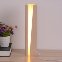 Arturesthome Creative Solid Wood Table Lamp, Dimmable Warm Light Led Desk Lamp ART10009L