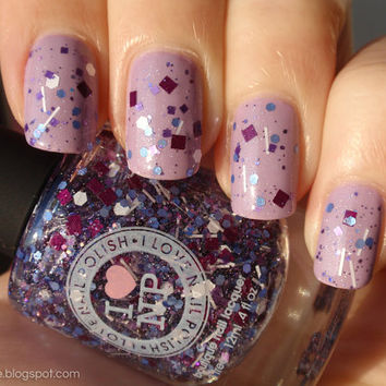 Purple Stuff - Wine, Purple, Periwinkle, White Glitter Nail Polish