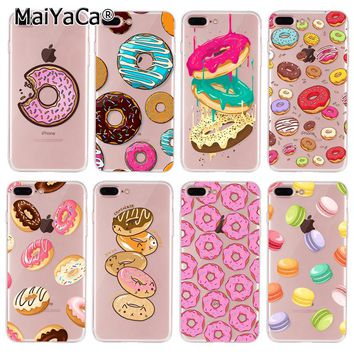 MaiYaCa  On Sale Rainbow Food Donuts Macaron Luxury Cool Phone Accessories Case For iPhone 7 plus Case