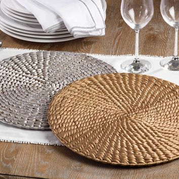 Round Water Hyacinth Placemat | Set of 4
