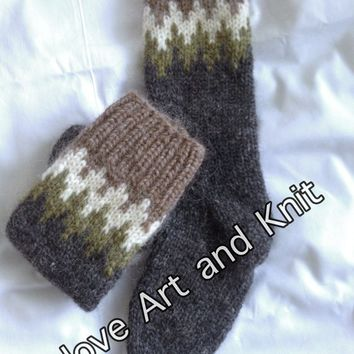 Icelandic woolen socks, knee high socks, sheep wool socks, outdoors, warm socks, lopi, Icelandic wool, unisex adult socks, adult