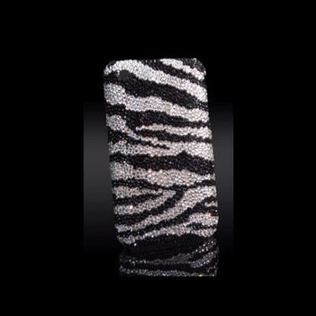 Swarovski Zebra Print Bling iPhone 5/5s Crystal Case Made With Swarovski Elements Crystals - Bling iPhone case