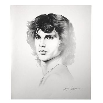 Jim Morrison 20X24 Lithograph By Artist Gary Saderup Signed Poster Photo Doors