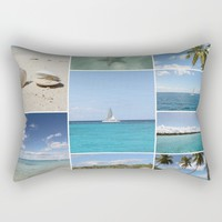 Scenic Caribbean Collage Rectangular Pillow by Christine Aka Stine1
