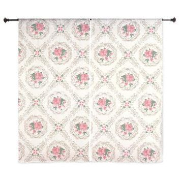 Vintage Floral Arrangements Pattern Curtains> Vintage Antique Victorian Floral> Pattern Designs