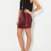 Sequined Popover Party Dress