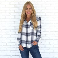 Got Me Going Plaid Top