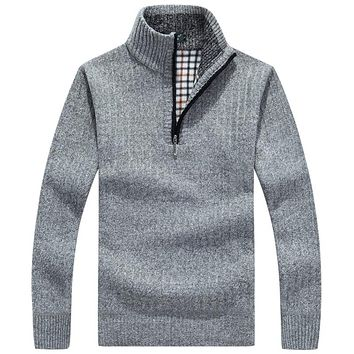 Turtleneck Pullovers Knitted Men's Sweaters