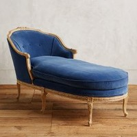 Pascaline Chaise Lounge by Anthropologie in Blue Size: One Size House & Home