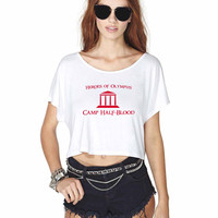 Camp Halfblood 3 868 Crop Shirt , Custom Crop Shirt , Woman Crop Shirt