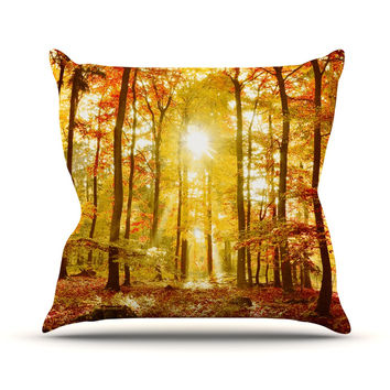 "Iris Lehnhardt ""Sun Flooded"" Yellow Orange Throw Pillow"