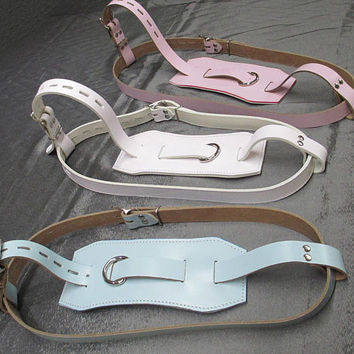 AB/DL Leather locking fully adjustable Diaper Harness
